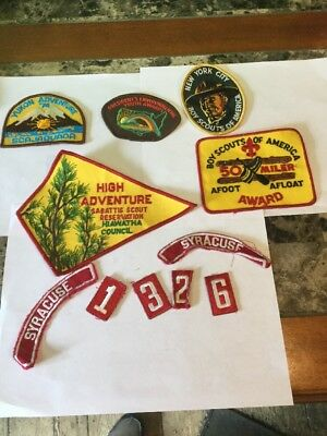 Vintage Boy Scouts 1970's Lot Of Badges & Patches NYC, 50 Miler, High Adventure