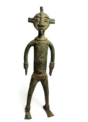 Mega Rare Museum Piece Antique African Cast Bronze Chamba sculpture 2