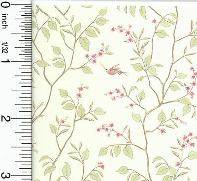 Dollhouse Miniature 1:12 Cherry Blossom Wallpaper by Brodnax Prints