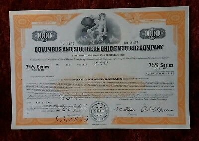Columbus and Southern Ohio Electric Company series due 1980 1000 $