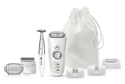Braun Silk Epil 7 7-561 Wet & Dry Cordless Rechargeable Epilator + 8 Attachments