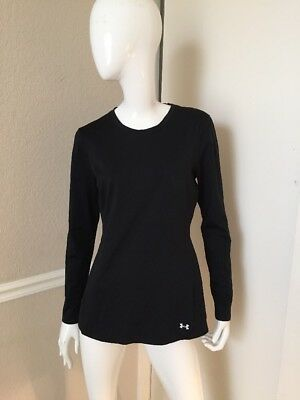 Under Armour NEW! Women's Black Fitted Long Sleeve Cold Gear Top Sz L NWOT!