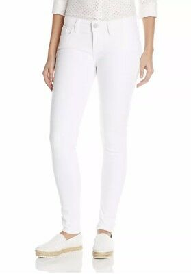 Women's Levi's 535 super skinny jeans white pants NEW 27-33/30
