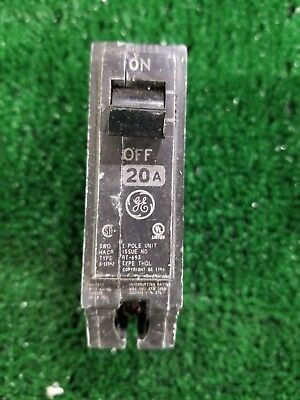 GE GENERAL ELECTRIC Type THQ THQL Circuit Breaker Single Pole 20 Amp THQL1120