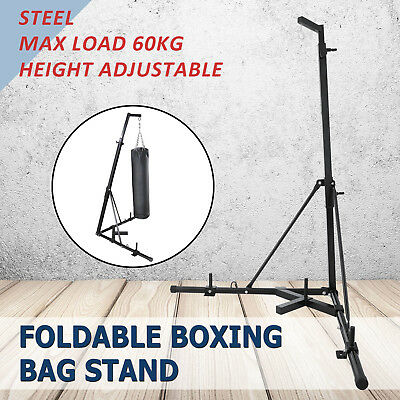 Foldable Boxing Bag Stand Multi Station Home Gym Punching Kick INDUSTRY SUPPLY