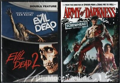 The Evil Dead Trilogy 1 2 3 DVD Lot Army of Darkness Bruce Campbell Brand NEW
