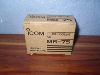 Icom MB-75 Flush Mount Kit - MB75 - NEW IN BOX WITH FREE SHIPPING