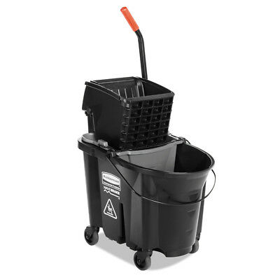 Rubbermaid Commercial Products WaveBrake 35-Quart Mop Wringer Bucket Wheeled