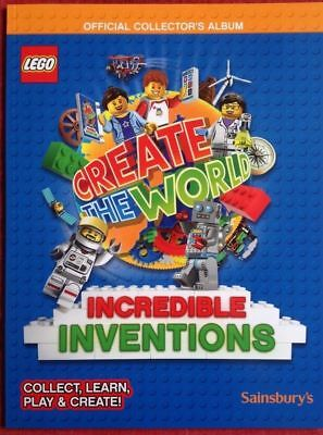 Lego Create The World Incredible Inventions Official Album 2018 Sainsbury's