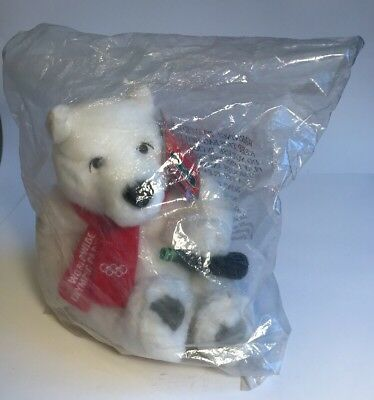 Worldwide Olympic Partner Plush Polar Bear With A Coke And Red Scarf
