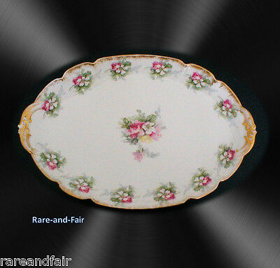 Charles Field Haviland Limoges oval dish - roses