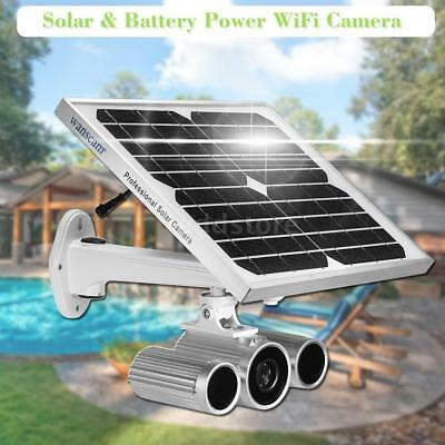 Wanscam Wireless HD 1080P WiFi Solar & Battery Power Bullet IP Camera Y0Q1
