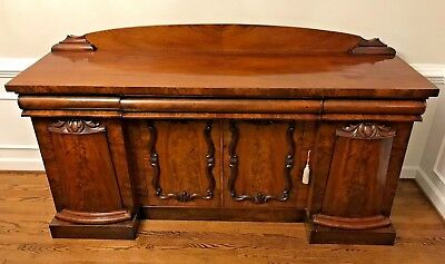 Antique 19th Century William IV Flame Mahogany Sideboard - Shipping Available