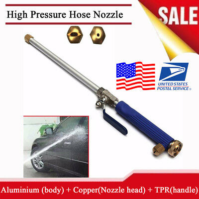 Aluminium High Pressure Power Car Washer Spray Nozzle Wash Water Gun Hose 46cm