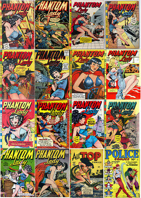 The Phantom Lady Comic Books: The Complete Golden Age Collection PFD Set on DVD