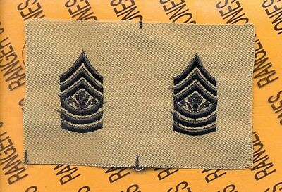 Enlisted SERGEANT MAJOR of the Army SMA E-9 OD Desert DCU rank patch