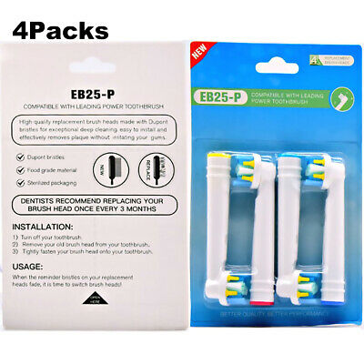 16pcs Electric Toothbrush Replacement Heads for Braun Oral B Floss Action EB-25A