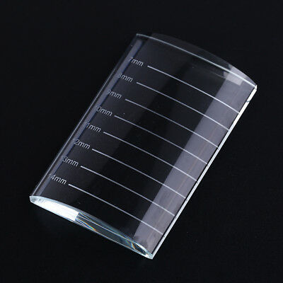 1pc U Type Crystal Curved Tile Eyelash Extension Stand Glass Glue Pallet US