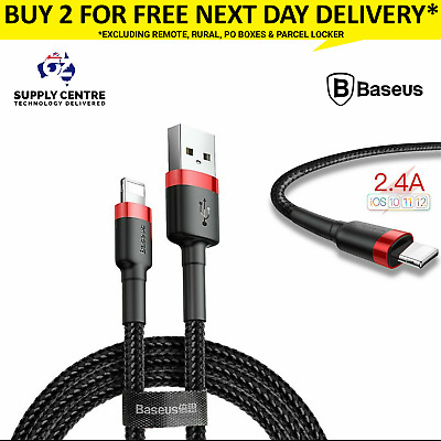 iPhone Charging cable mfi certified lightning to USB 2M Baseus Apple X 8 7 6 5