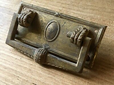 Antique Handle Drawer Pull Brass Chest Cabinet Cupboard Door Vintage Old Salvage