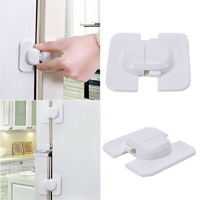 Kids Child Baby White Safety Door Lock Cupboard Fridge Cabinet Prevent Clamping