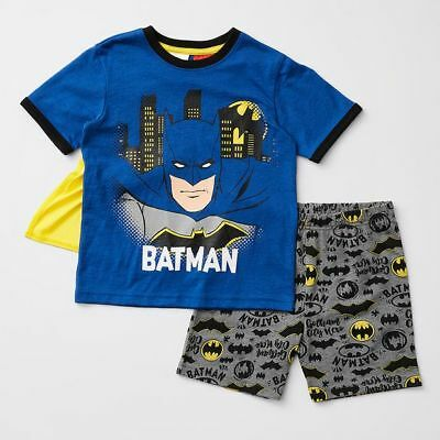 NEW Batman Print Pyjama Set With Cape Kids