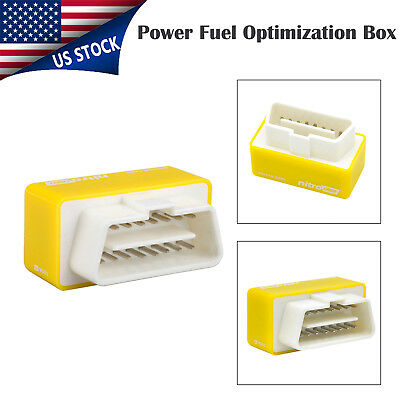 Universal OBD2 Chip Tuning Box Fuel Optimization Power for Diesel Cars Yellow US