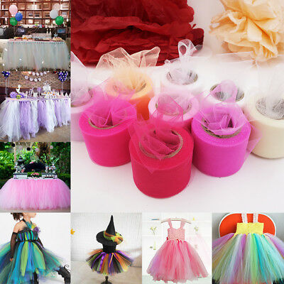 25Yard Tutu Tulle Roll Spool Netting Craft Fabric Wedding Party Decor DIY Gift