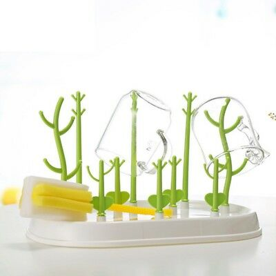 Tree Shape Baby Bottle Dryer Rack Cleaning Drying Rack Shelf Feeding Holder Tool
