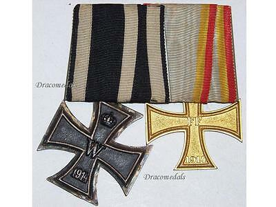 German WWI Military Medal Mecklenburg Schwerin Iron Cross War Merit EK2 1914 WW1