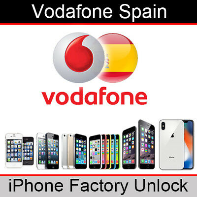Vodafone Spain iPhone Factory Unlocking Service (All Models)