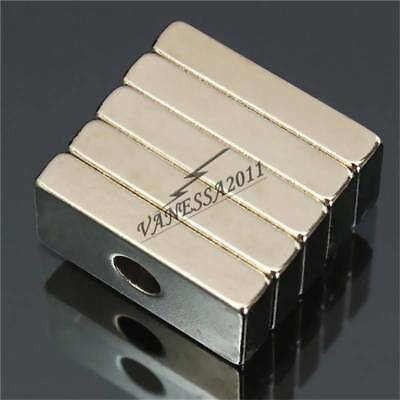 Wholesale Super Strong Block Magnets 20x10x4mm Hole 4mm Rare Earth Neodymium N50