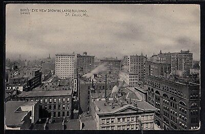Antique Vintage Postcard Bird's Eye View Showing Large Buildings St Louis Mo '10
