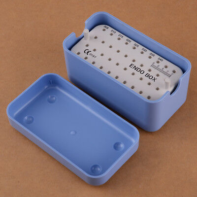 Dental Endodontic 40 Holes Autoclavable Sterilising Box Tray Holder Plastic