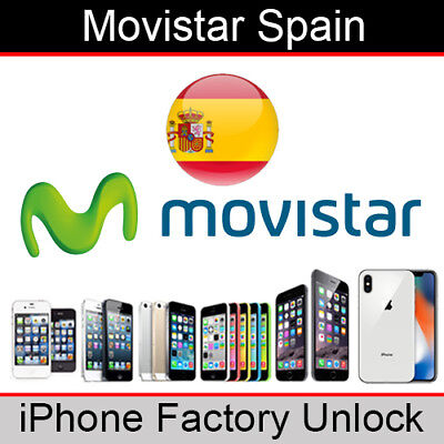 Movistar Spain iPhone Factory Unlocking Service (All Models)