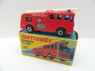 Matchbox Superfast 35a Merryweather Fire Engine - 5 Arch Wheels - Mint/Boxed