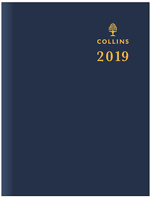 Diary 2019 Collins Sterling Blue Pocket A7 Day to Page w/ Pencil #133