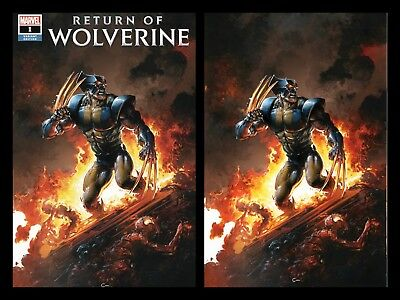 Return Of Wolverine 1 Clayton Crain Virgin Fire Variant Set New Claws Nm Presale