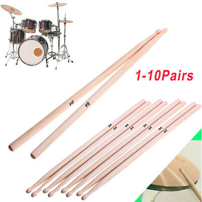 """American Classic Drum Sticks 5A 16"""" Drumsticks Maple High Quality Wood 1-10Pairs"""
