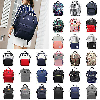 Large Mummy Multifunctional Baby Diaper Nappy Backpack Mom Changing Travel Bags