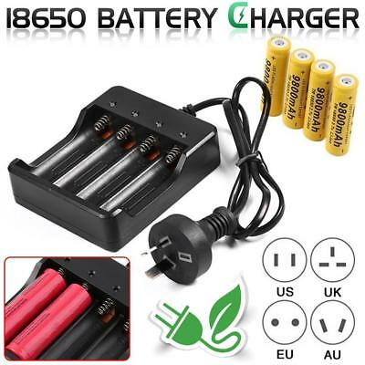 4 Slots 18650 Battery Charger Rechargeable Battery Adapter Home Charging Stand