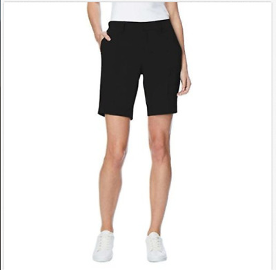 NEW 32 Degrees COOL Women's Stretch Active Cargo Shorts - BLACK