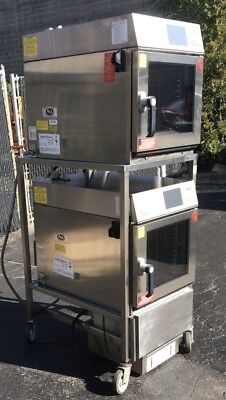 Dual Cleveland Convotherm easyTouch Model OES 6.10 Mini Combi Ovens w/ Rack