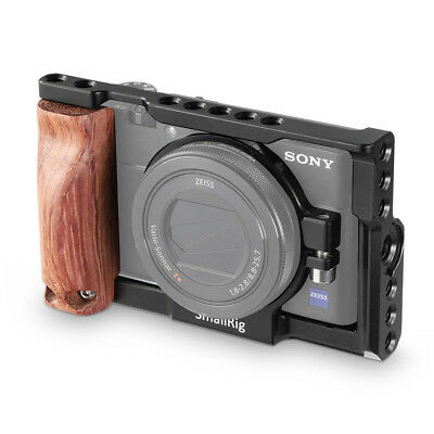 SmallRig Camera cage with wooden side grip lens ring for Sony RX100 III IV V