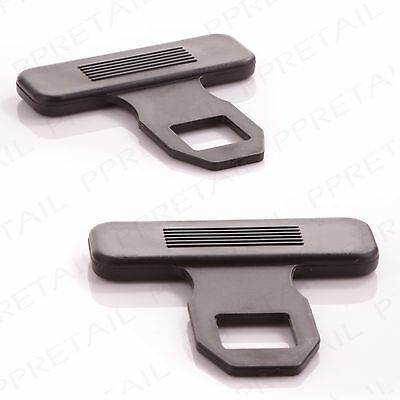 2 x SEAT BELT BUCKLE Car Alarm Eliminator Clip/Warning Light Stopper Safety Plug