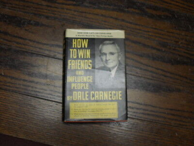 HOW TO WIN FRIENDS  and INFLUENCE PEOPLE by Dale Carnegie, Vintage 1952 HD/DJ