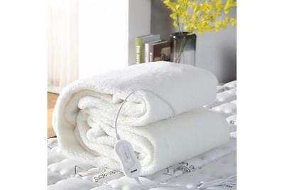 Fleecy Fully Fitted Heated Electric Blanket with Timer Queen