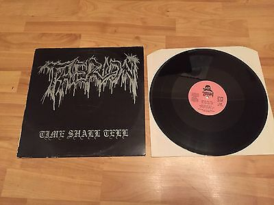 THERION - Time Shall Tell LP ORIG. 1990 Death Metal // Entombed grave dismember