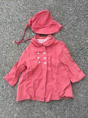 Vintage Early 1950s Baby Coat And Bonnet