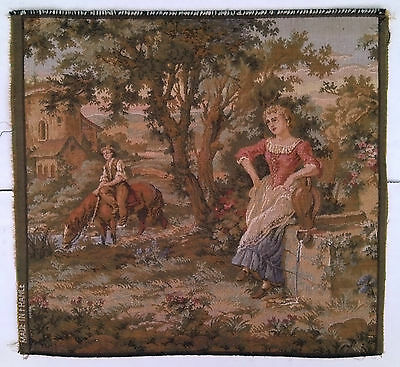 Vintage French Gobelin Antique Art Tapestry Great Condition